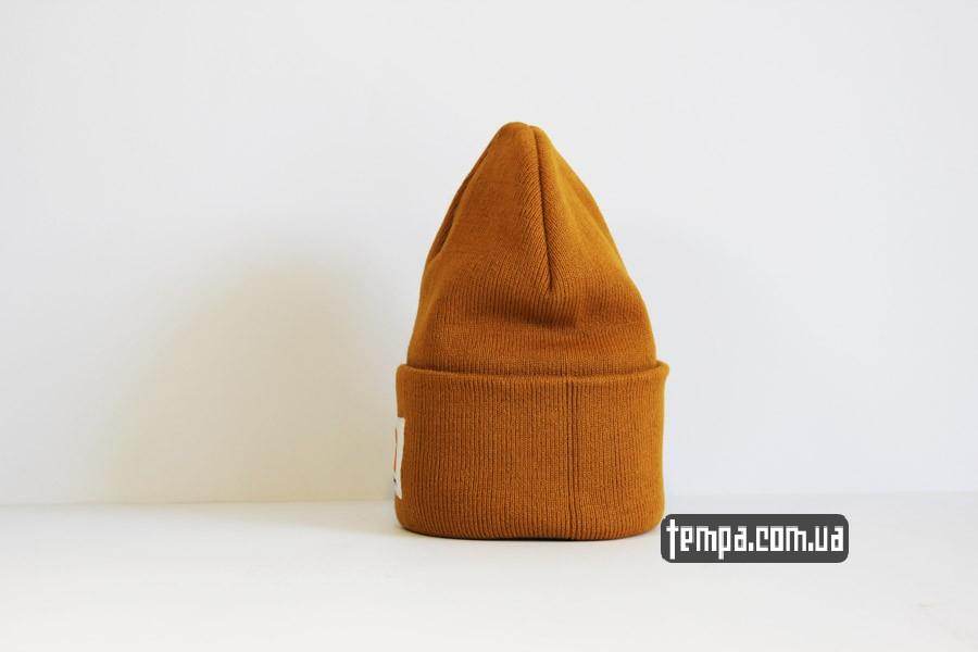 украина магазин шапка beanie Carhartt оранжевая коричневая рыжая