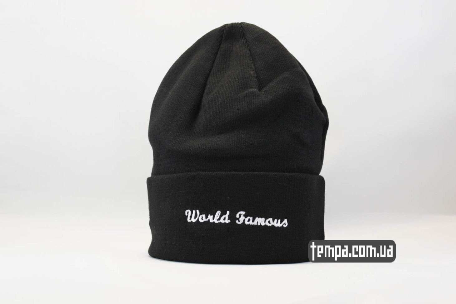 world famous supreme шапка beanie SUPREME Black черная суприм Украина