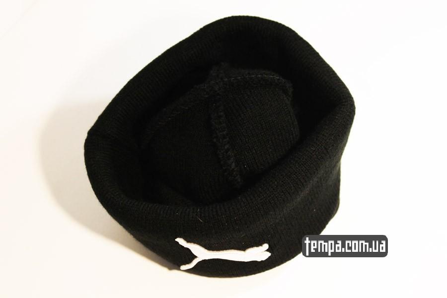 бини зима шапка beanie puma пума оджда черная купить украина