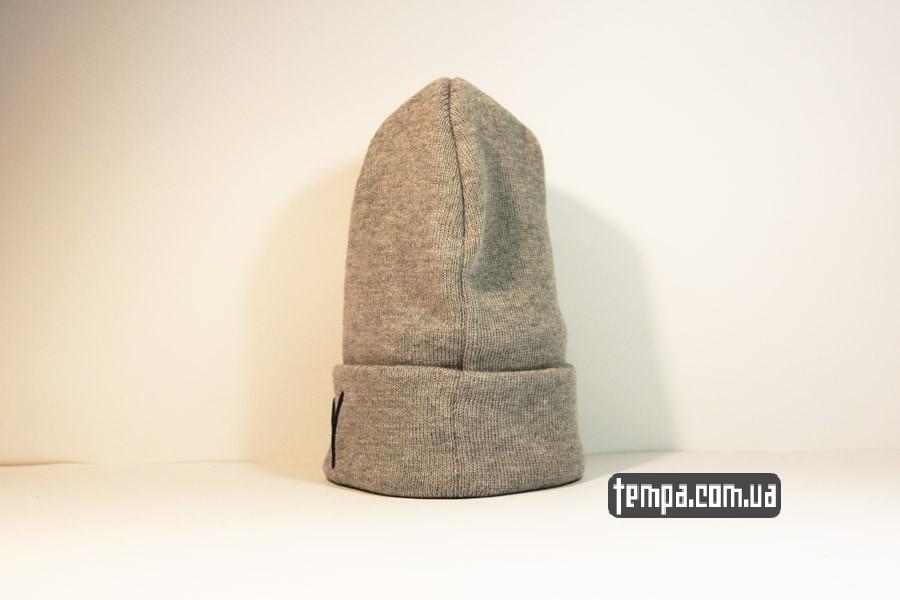 пума пантера одежда шапка beanie puma пума серая бини Украина купить