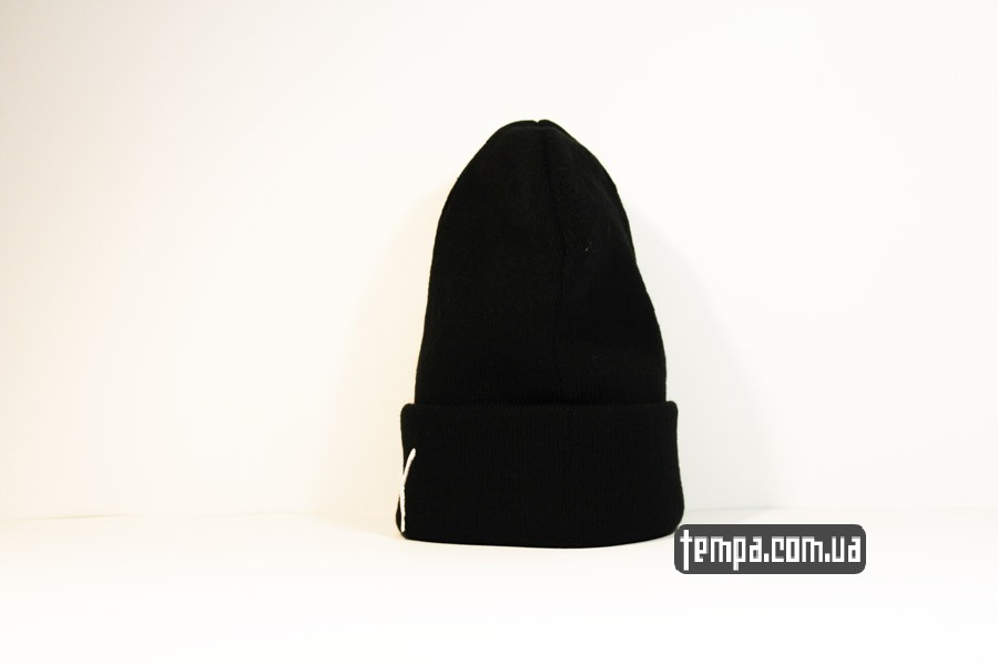 шерстяная женская мужская шапка beanie puma пума оджда черная купить украина