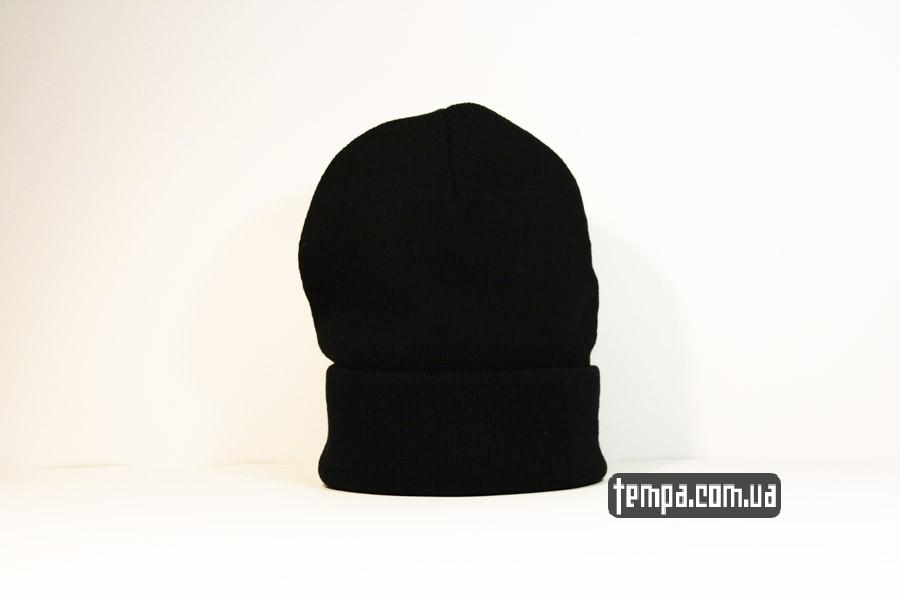 зимняя теплая шапка beanie puma пума оджда черная купить украина