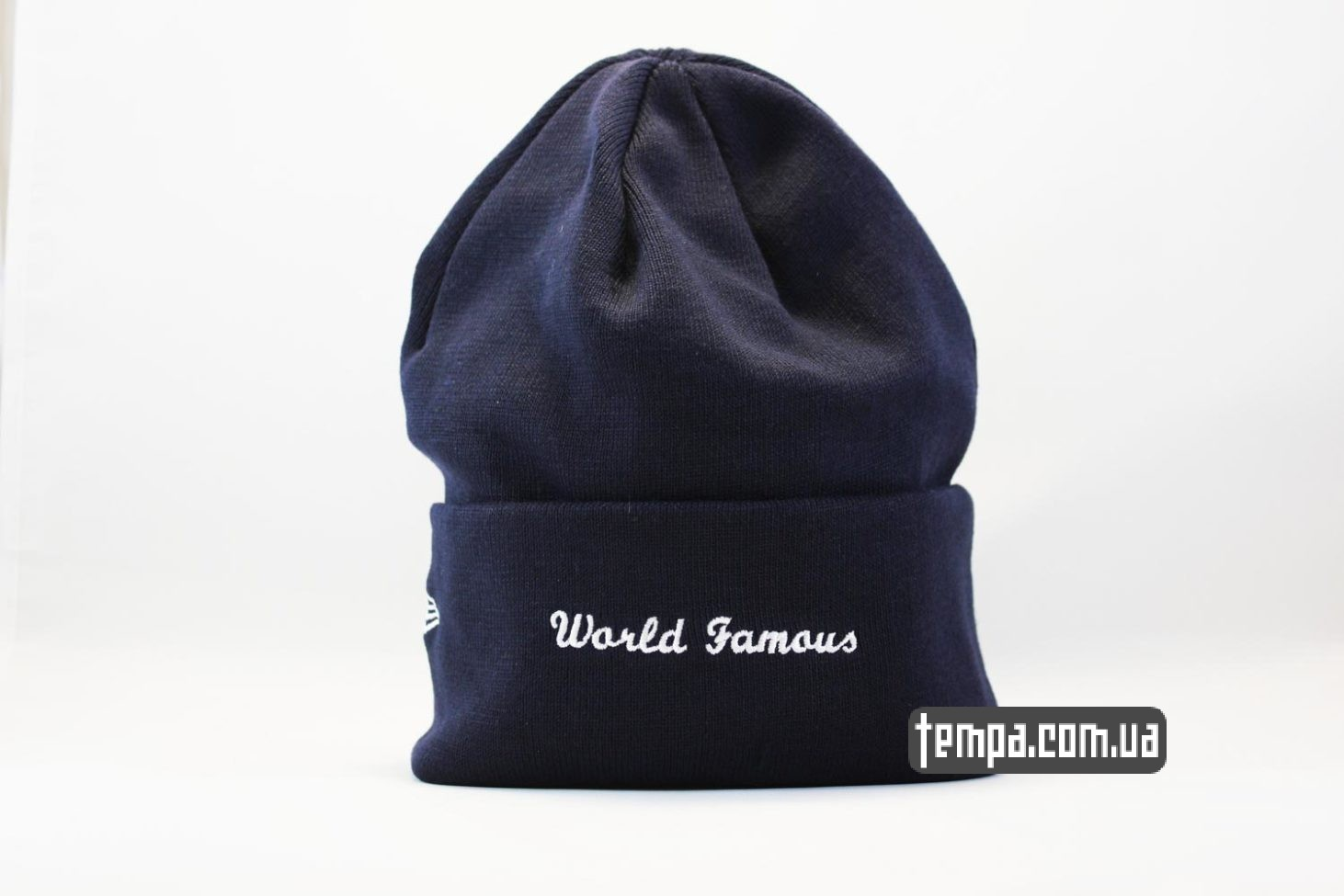 world famous шапка beanie SUPREME New Era blue голубая оригинал