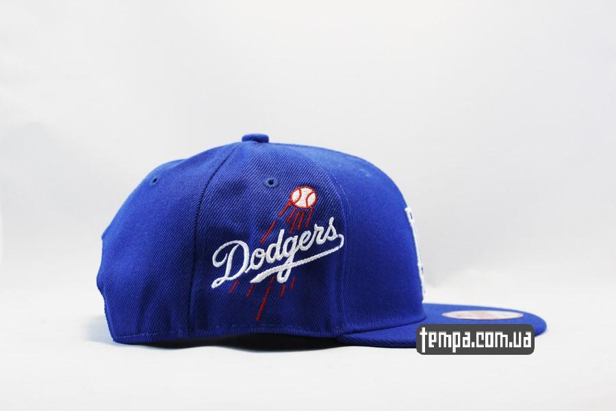 бейсбольная кепка Доджерс кепка snapback LA Dodgers синяя New Era Украина