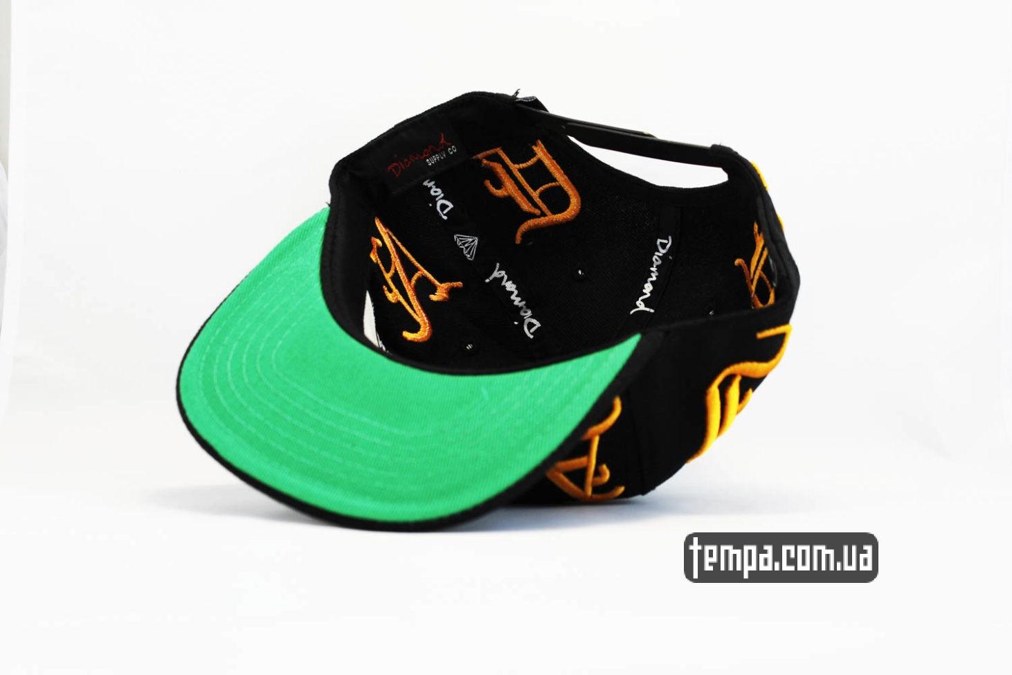 кепки украина магазин кепка snapback DIAMOND Ghetto Gangter черная