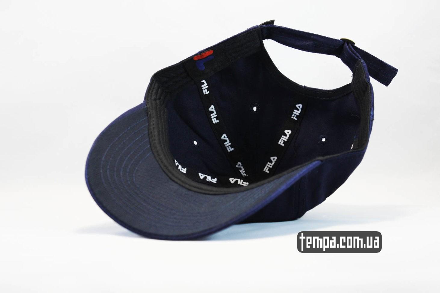 винтажная кепка бейсболка FILA маленький логотип синяя купить