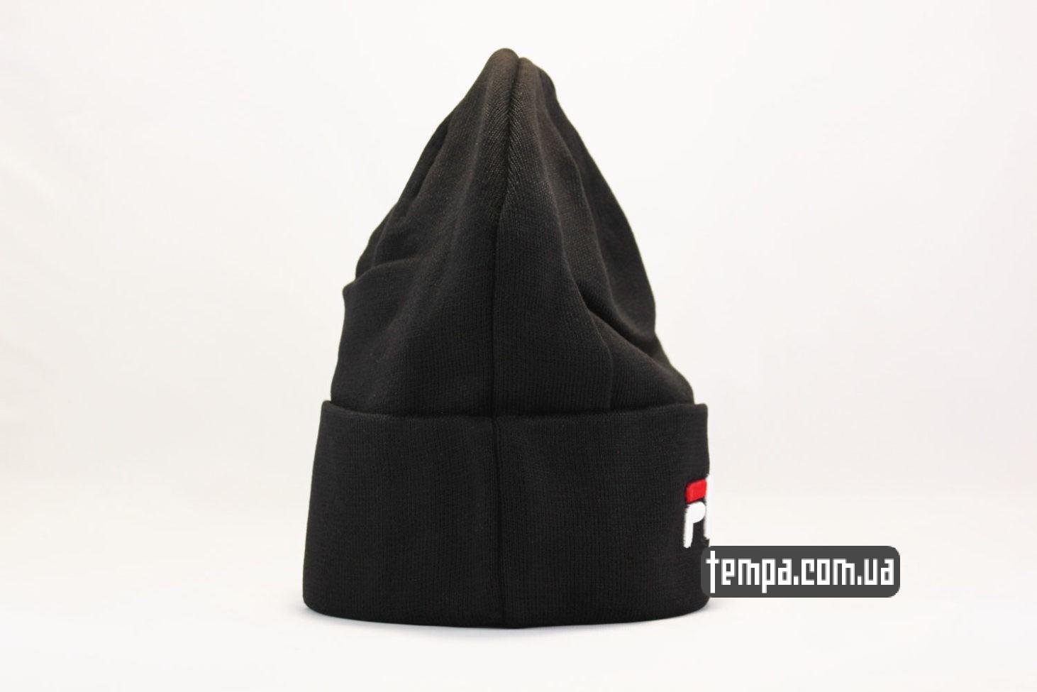купить магазин шапка beanie FILA black черная купить