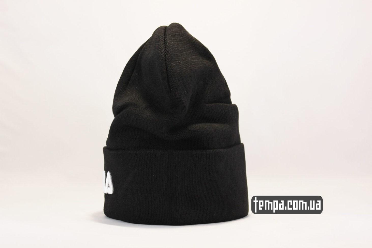 мужская женска бини шапка beanie FILA black черная купить