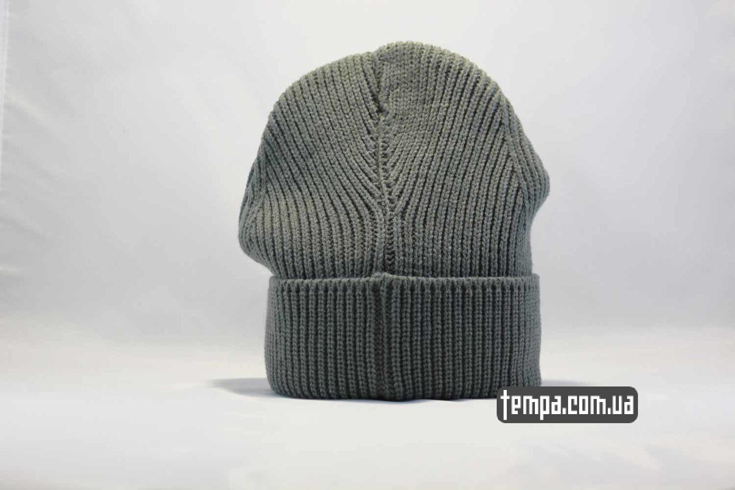 зимняя теплая шапка beanie the north face серая