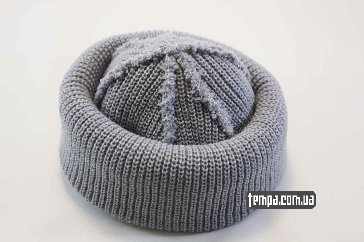 короткая шерстяная шапка шапка beanie MONATIK ASOS серая купить Украина оригинал