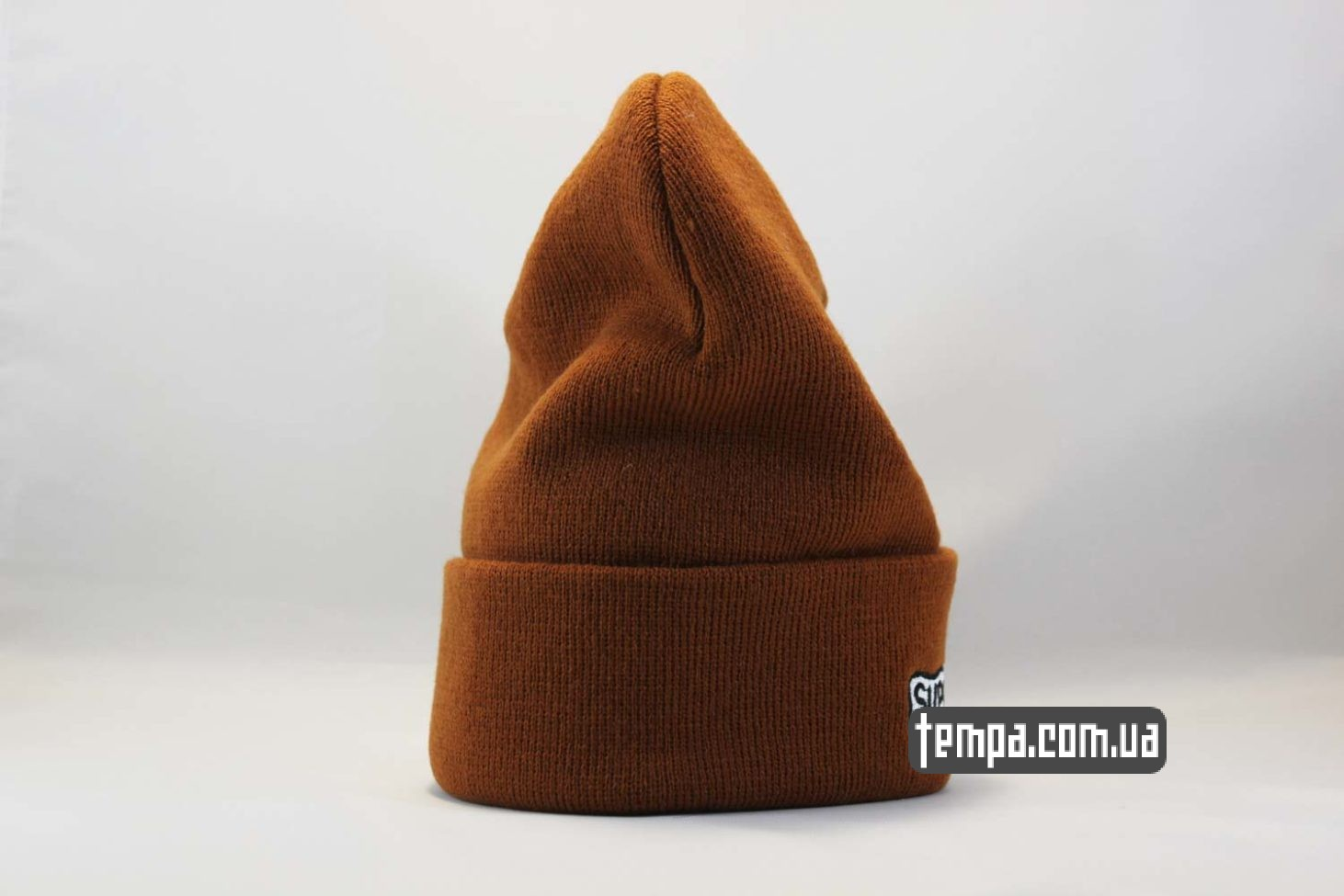 магазин Украина шапка beanie SUPREME supream coolio коричневая