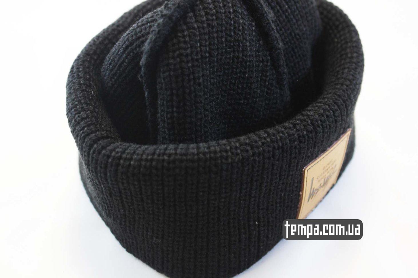 молодежная шапка. шапка beanie STUSSY New York Los Angeles Tokyo купить магазин Украина