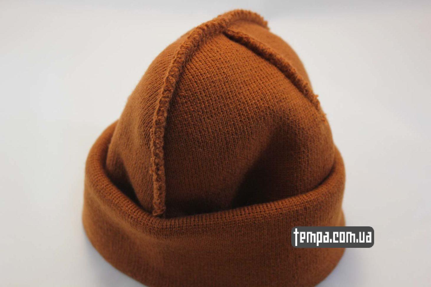 суприм киев одежда купить шапка beanie SUPREME supream coolio коричневая
