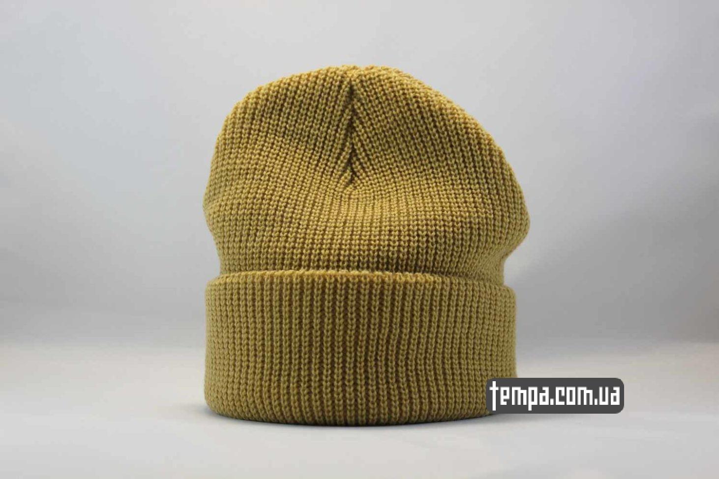 яркая цветная шапка beanie STUSSY New York Los Angeles Tokio yellow желтая