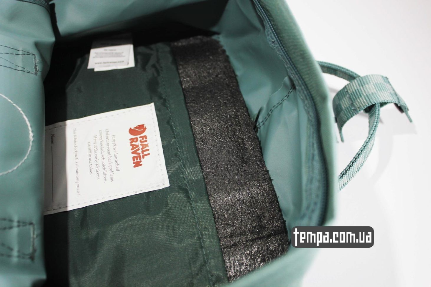 голубо-зеленый Купить Рюкзак Fjallraven Kanken 16 зеленый с ручками