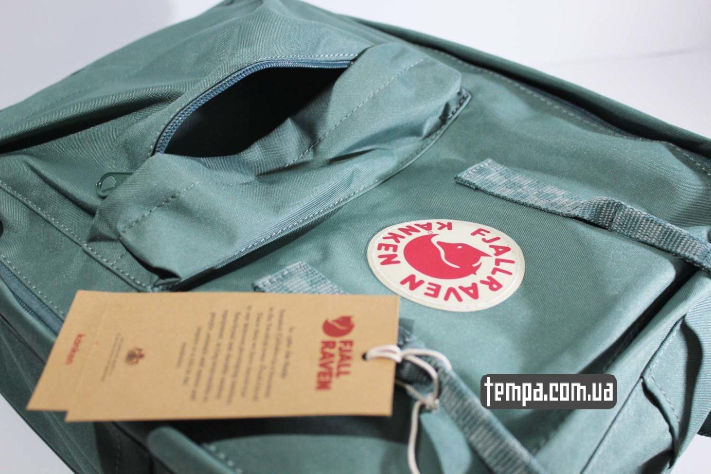 официальный сайт рюкзаков Купить Рюкзак Fjallraven Kanken 16 зеленый с ручками