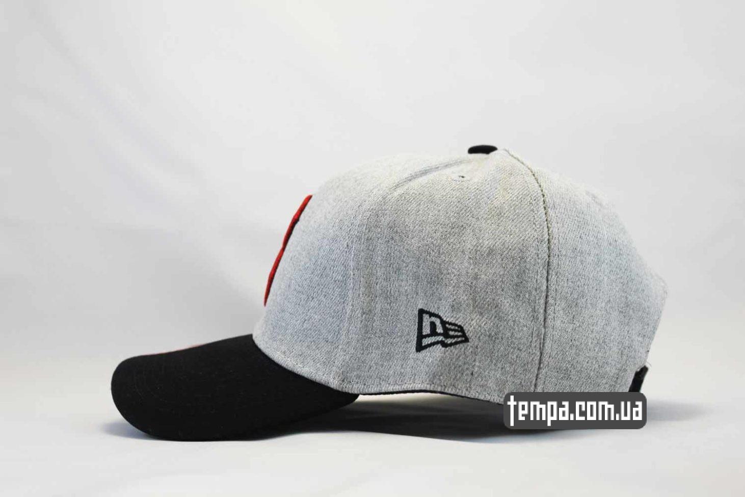 бейсбольная кепка кепка бейсболка BOSTON red sox New Era Snapback серая