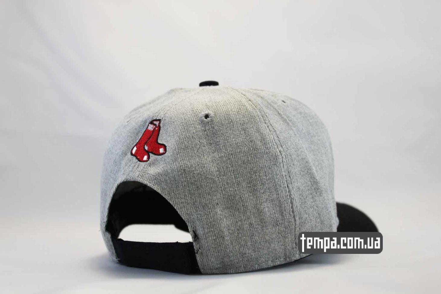 бостон редсокс кепка бейсболка BOSTON red sox New Era Snapback серая