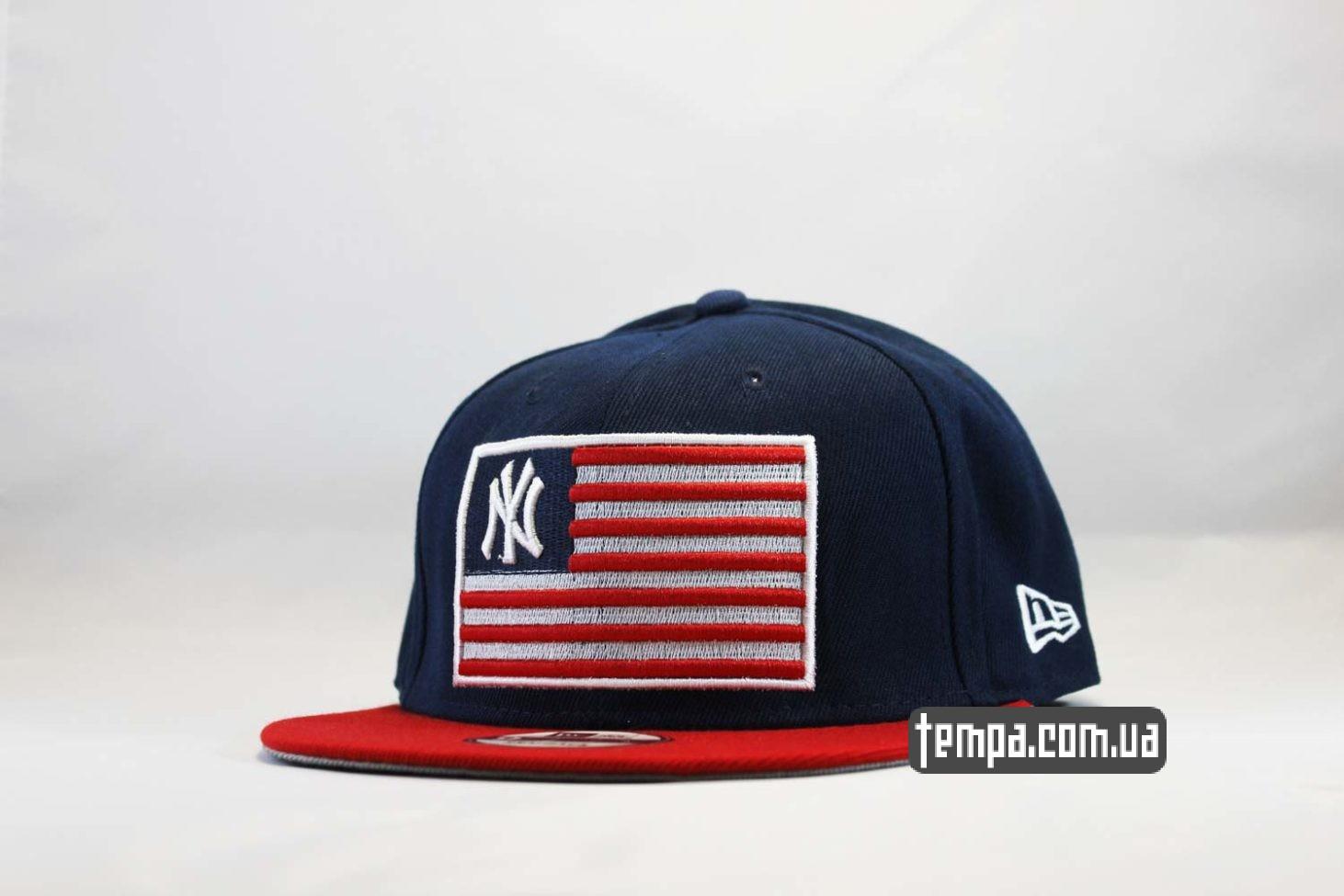 кепка snapback nyc new york yankees newera американский флаг