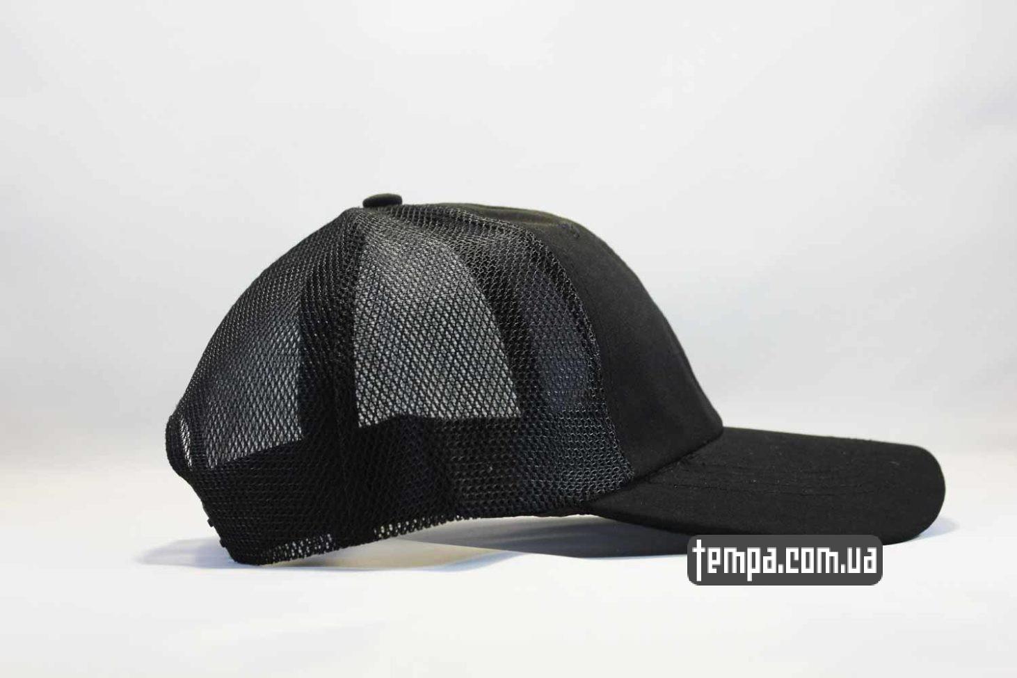 фила украина купить оригинал кепка бейсболка FILA черная black trucker с сеточкой