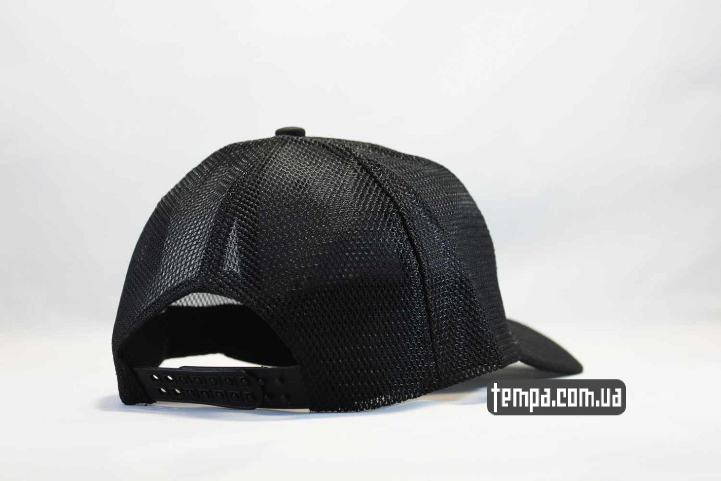гнущийся козырек кепка бейсболка FILA черная black trucker с сеточкой