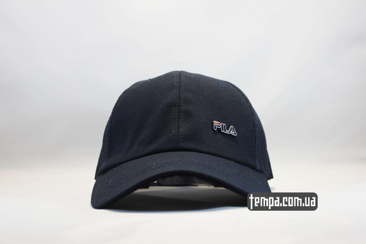 кепка бейсболка fila синяя trucker с сеточкой
