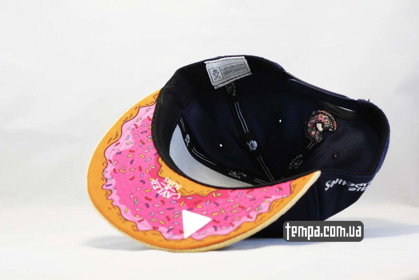 homer simpson одежда купить кепка snabback с пончиком donut cayler and sons киев
