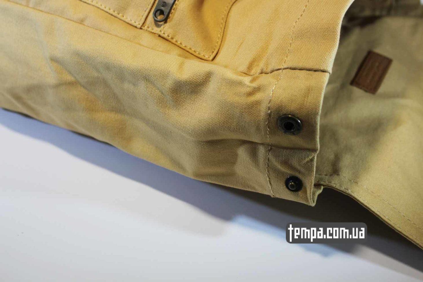 плотный непромокаемый рюкзак сумка Fjallraven Foldsack No.1 Backpack бежевый