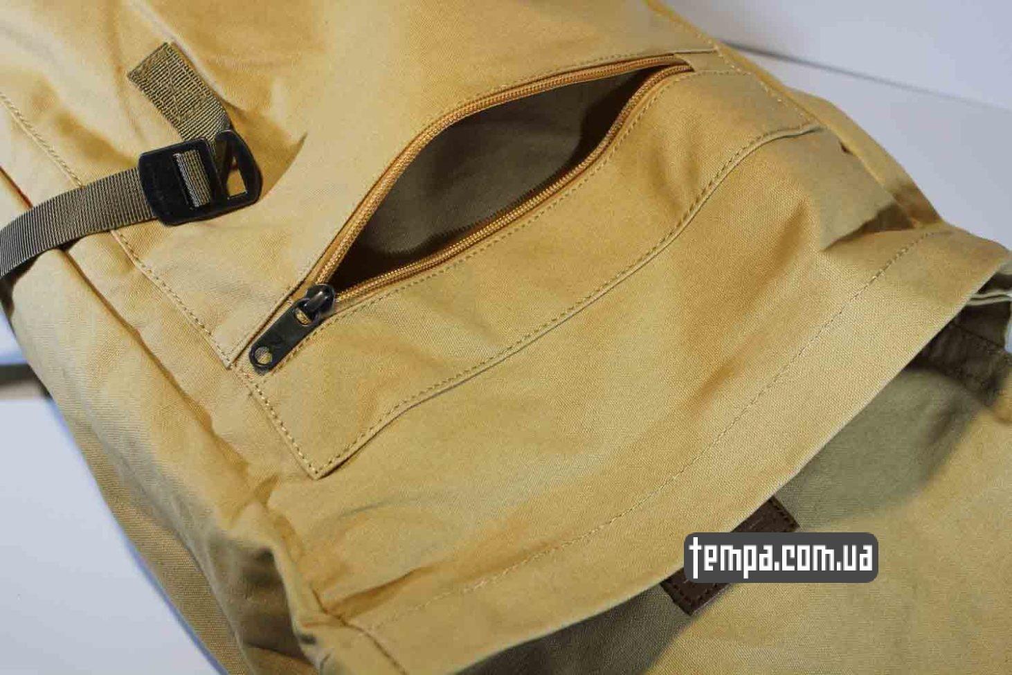 против дождя турестический рюкзак сумка Fjallraven Foldsack No.1 Backpack бежевый