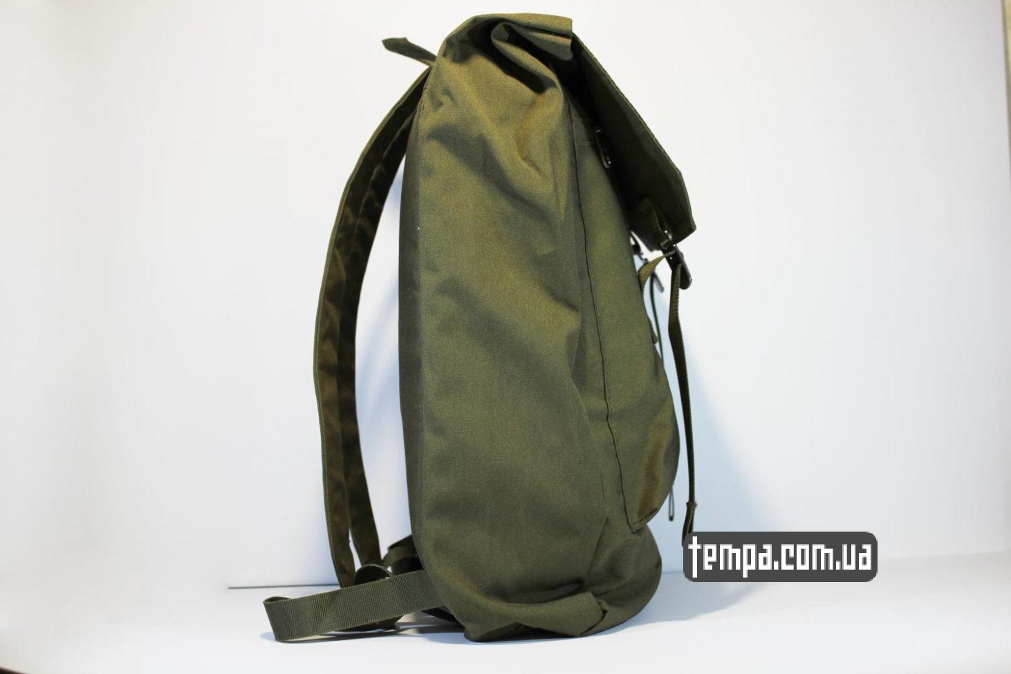 зеленый хакки рюкзак сумка Fjällräven Rucksack Foldsack No.1 — 16 литров зеленый