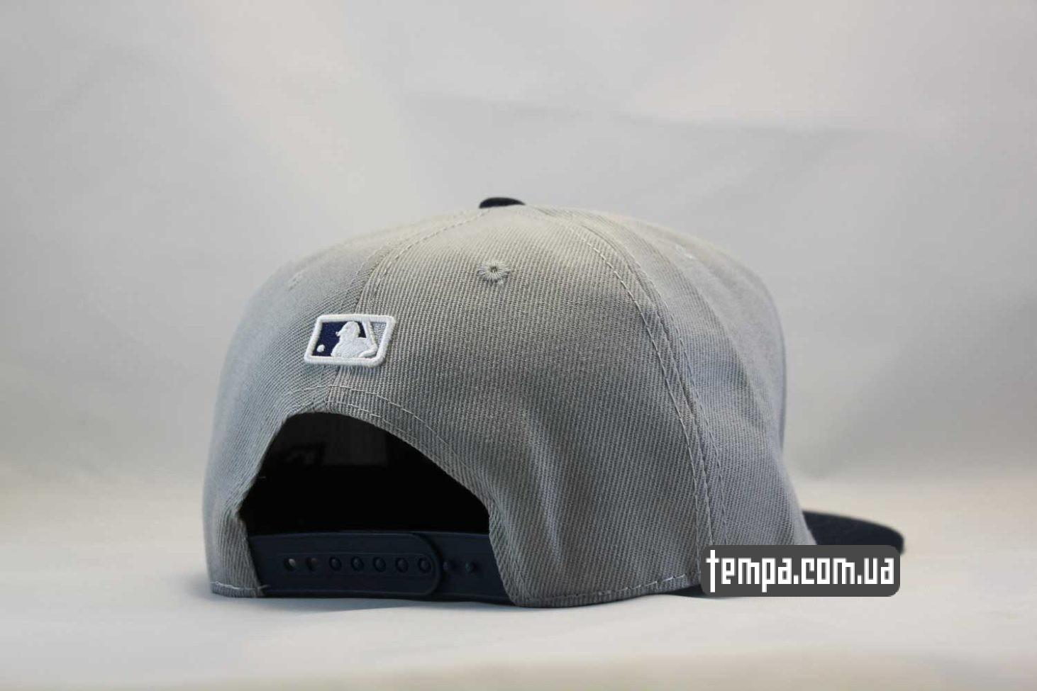 бейсболка кепка snapback Yankees New York NY New Era серая с синим логотипом