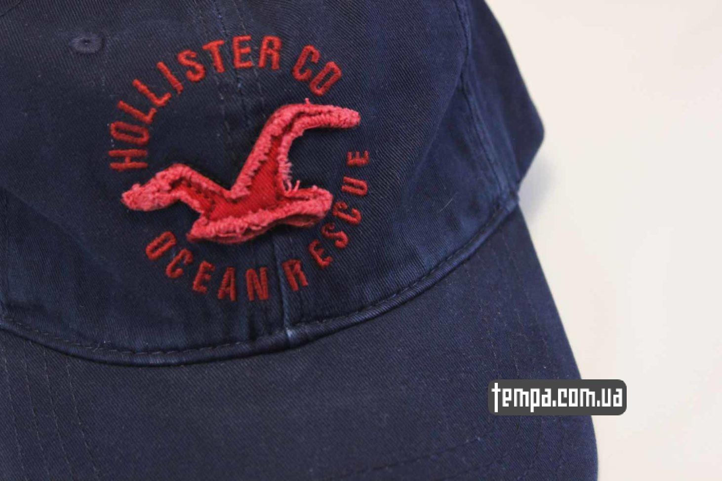холистер украина кепка бейсболка holliter co ocean rescue синяя с птицей
