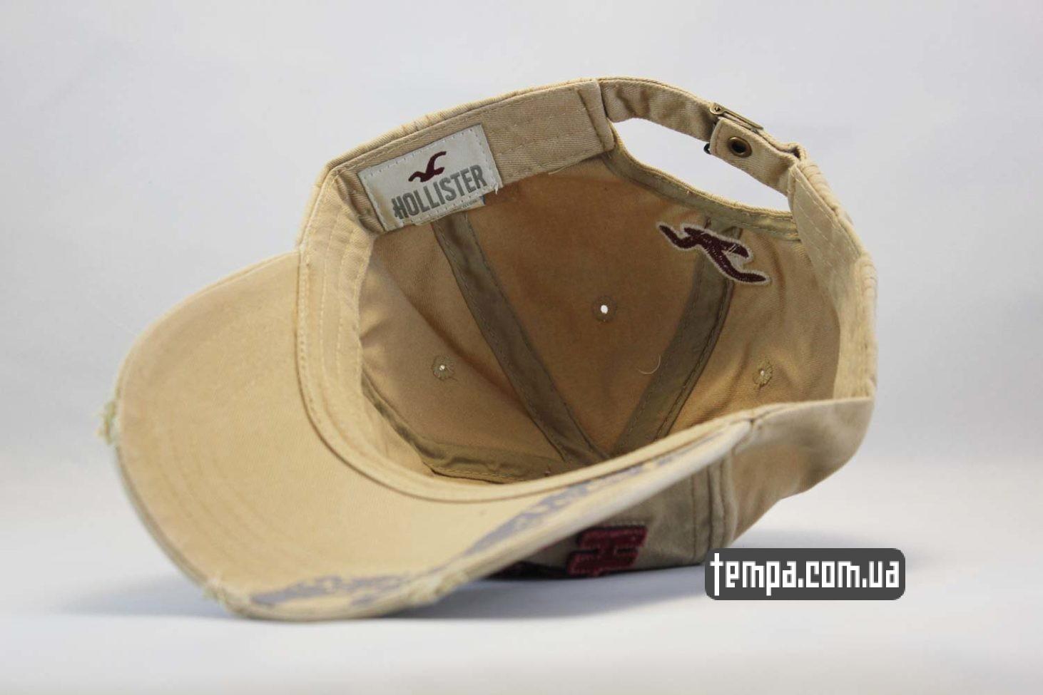 hollister ukraine купить кепка бейсболка hollister company бежевая джинсовая