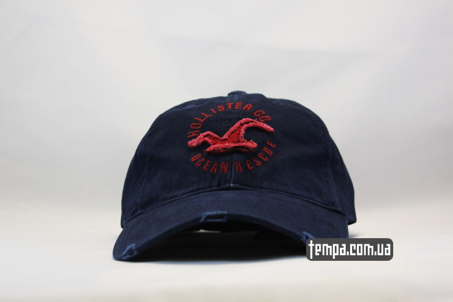 кепка бейсболка holliter co ocean rescue синяя с птицей