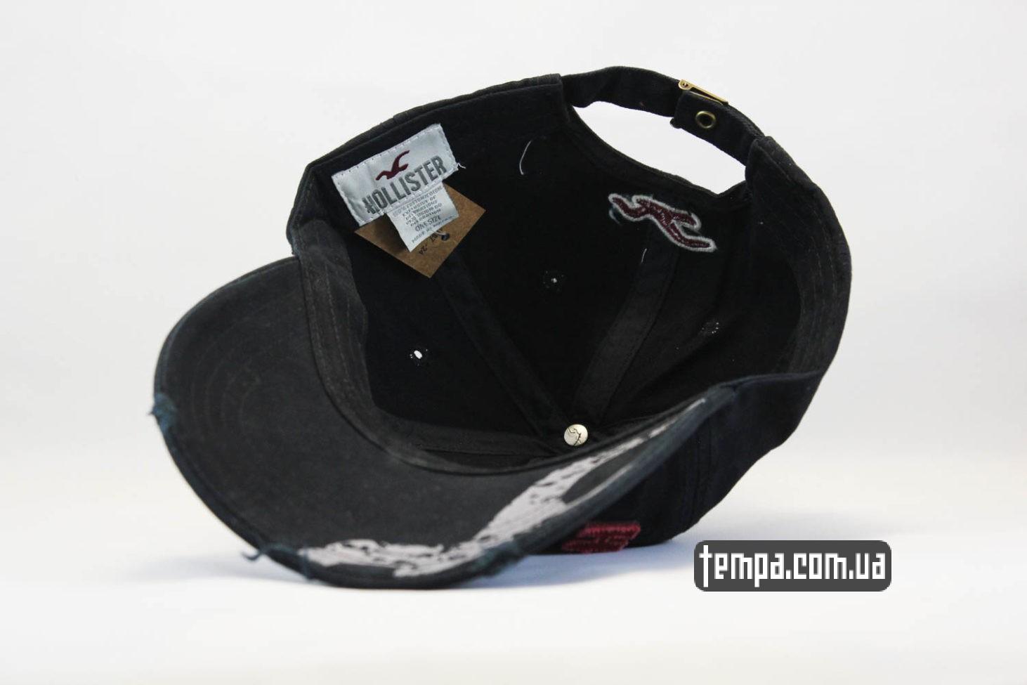 одежда холлистер купить украина кепка бейсболка hollister черная с логотипом и чайкой