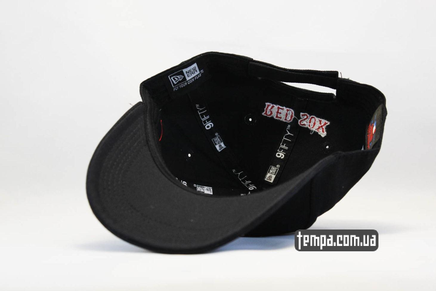 закругленный козырек кепка New Era Boston Red Sox бейсболка черная