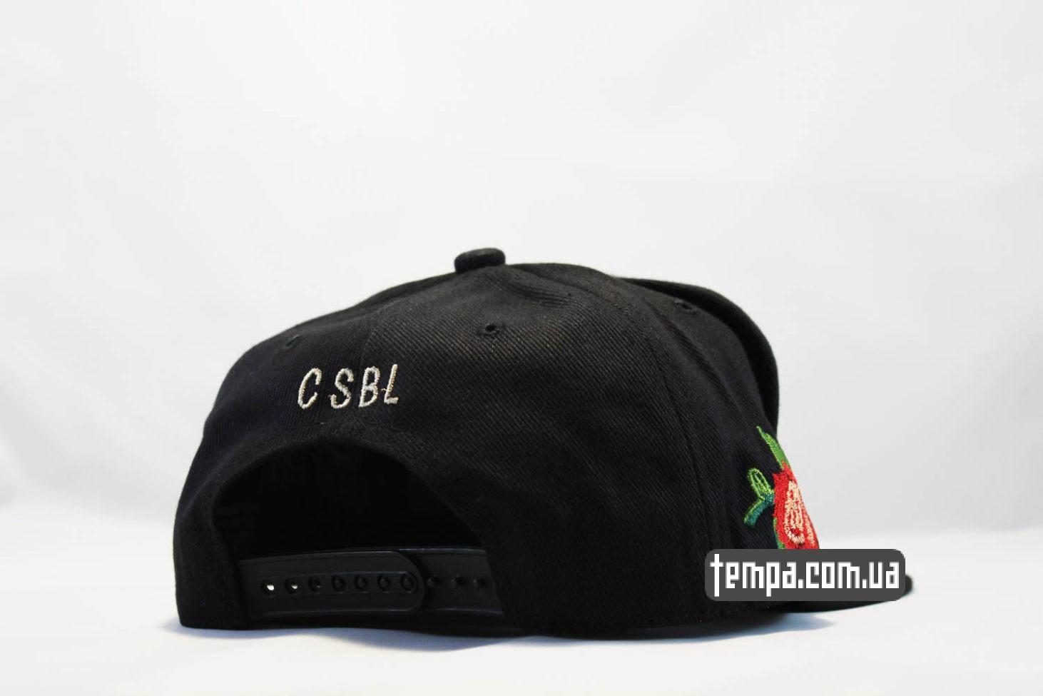 CSBL роза кепка Snapback ROSES Cayler And Sons с розами черная