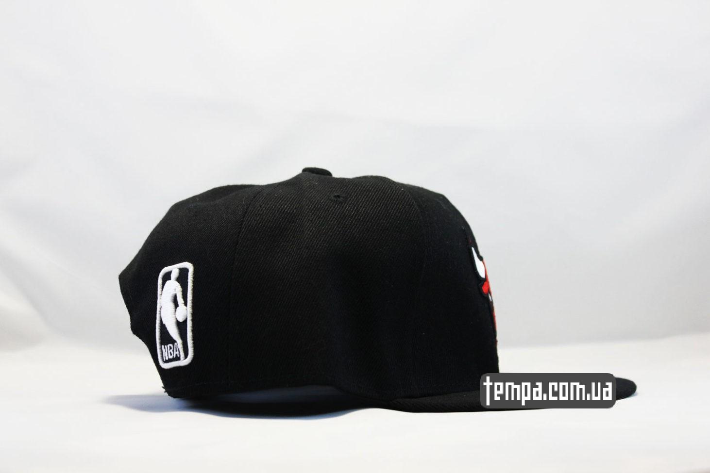 NBA баскетбольная AND1 кепка snapback Chicago Bulls New Era 9fifty черная с быком