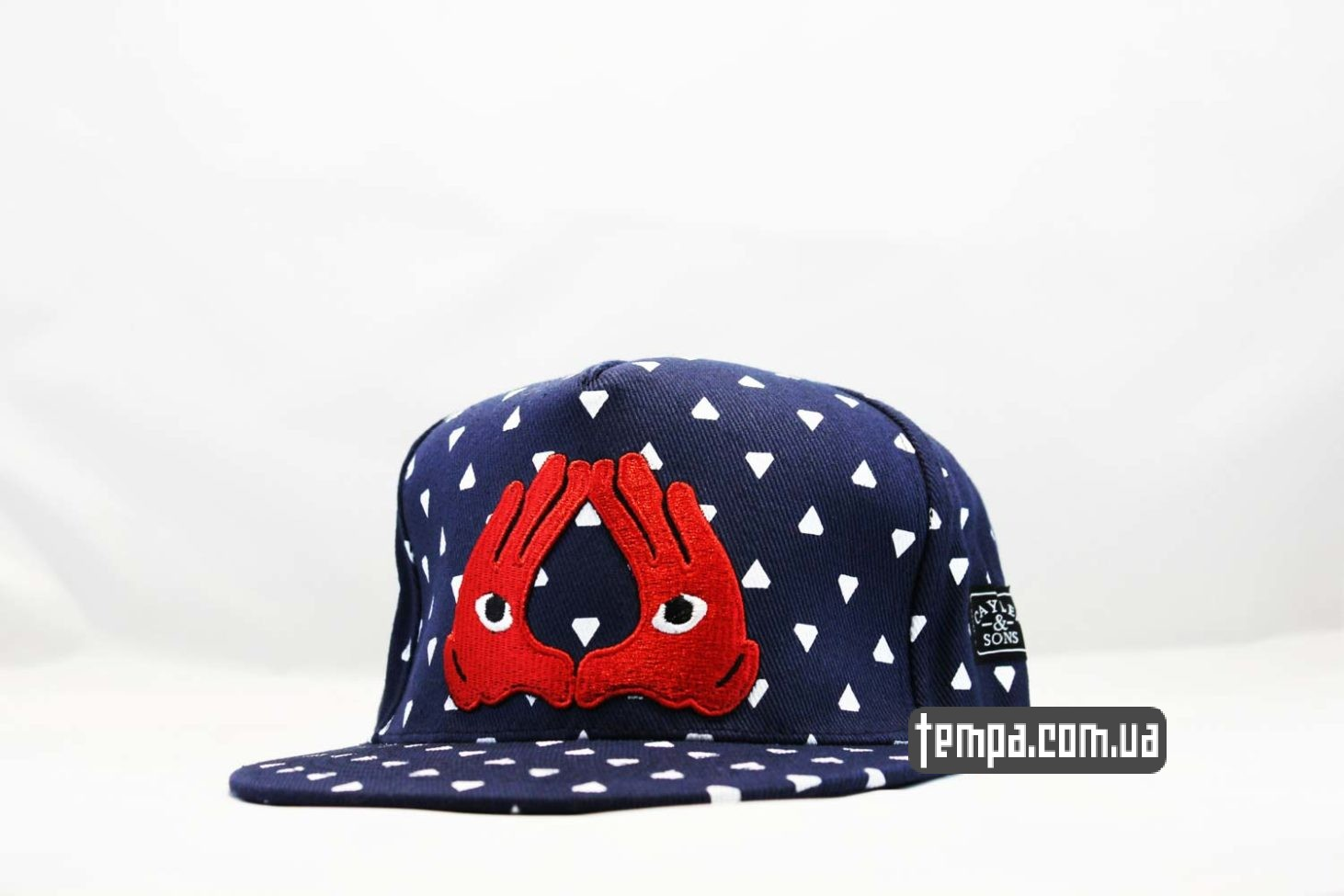 кепка snapback cayler and sons brooklyn eye глаза красные