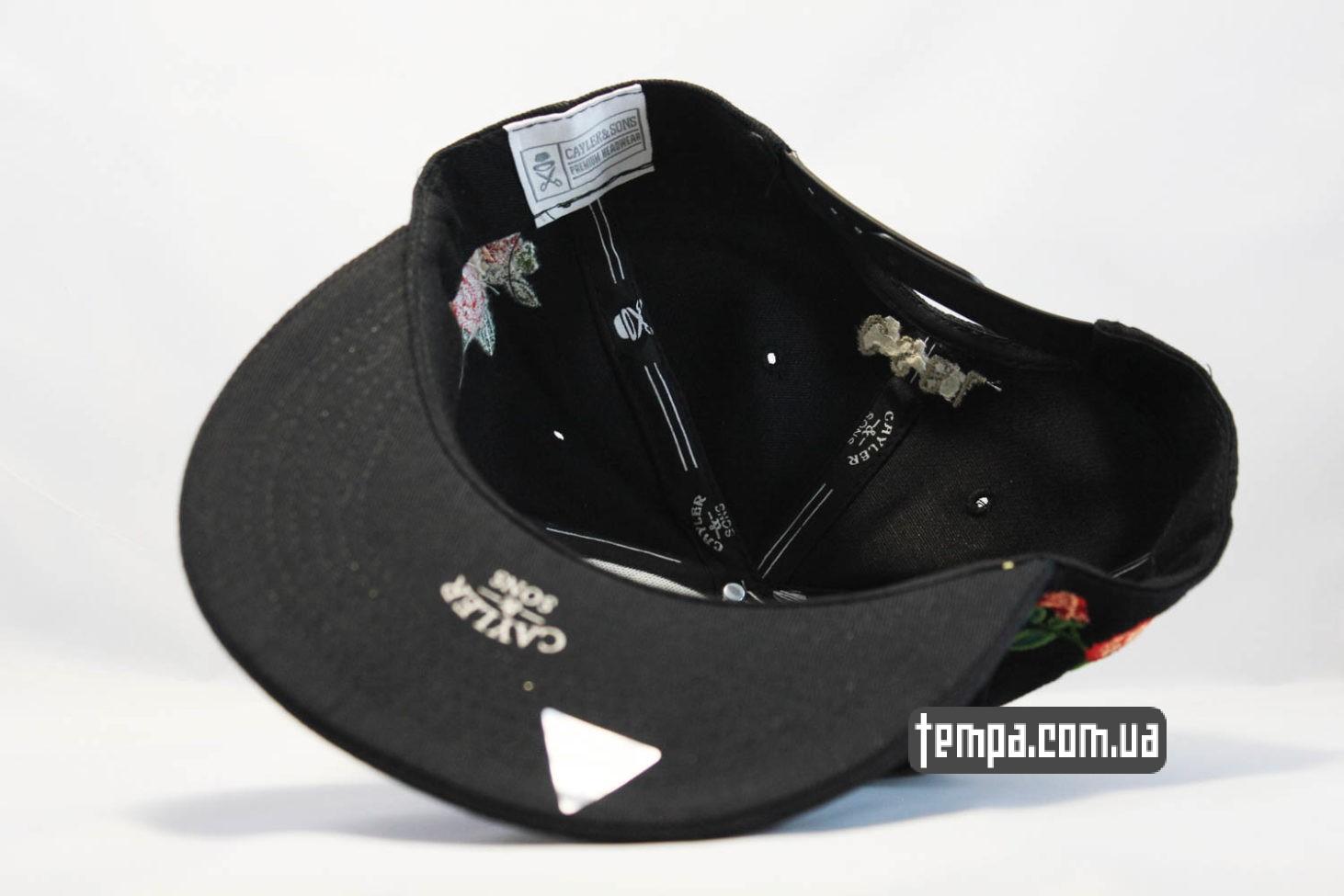 кепки с розовами купить кепка Snapback ROSES Cayler And Sons с розами черная
