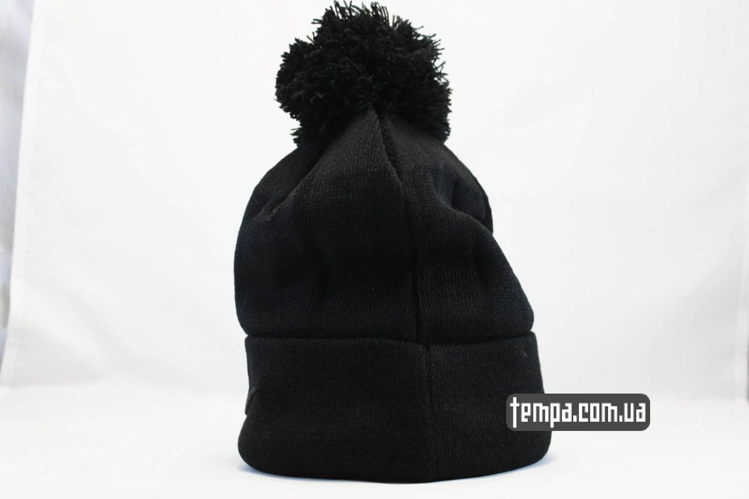 найки украина купить одежду шапка beanie NIKE черная со звездами и балабоном