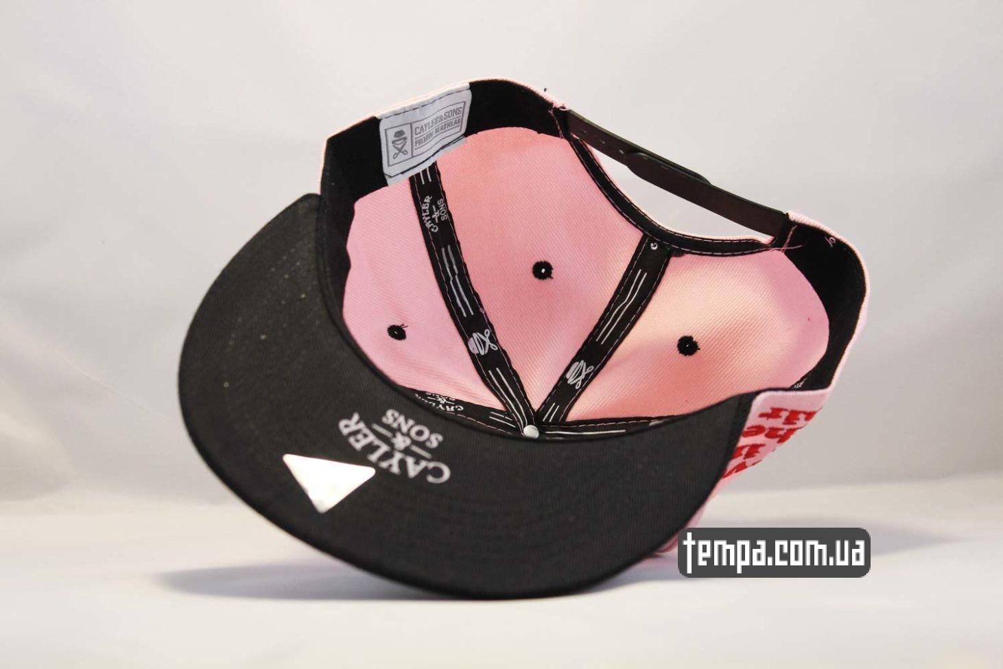 розовая женская мужская кепка snapback pink killer cayler and sons розовая