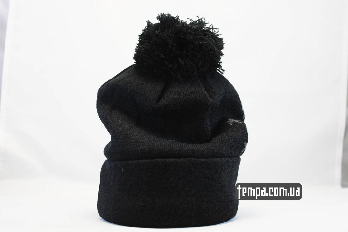 зимняя одежда nike шапка beanie NIKE черная со звездами и балабоном