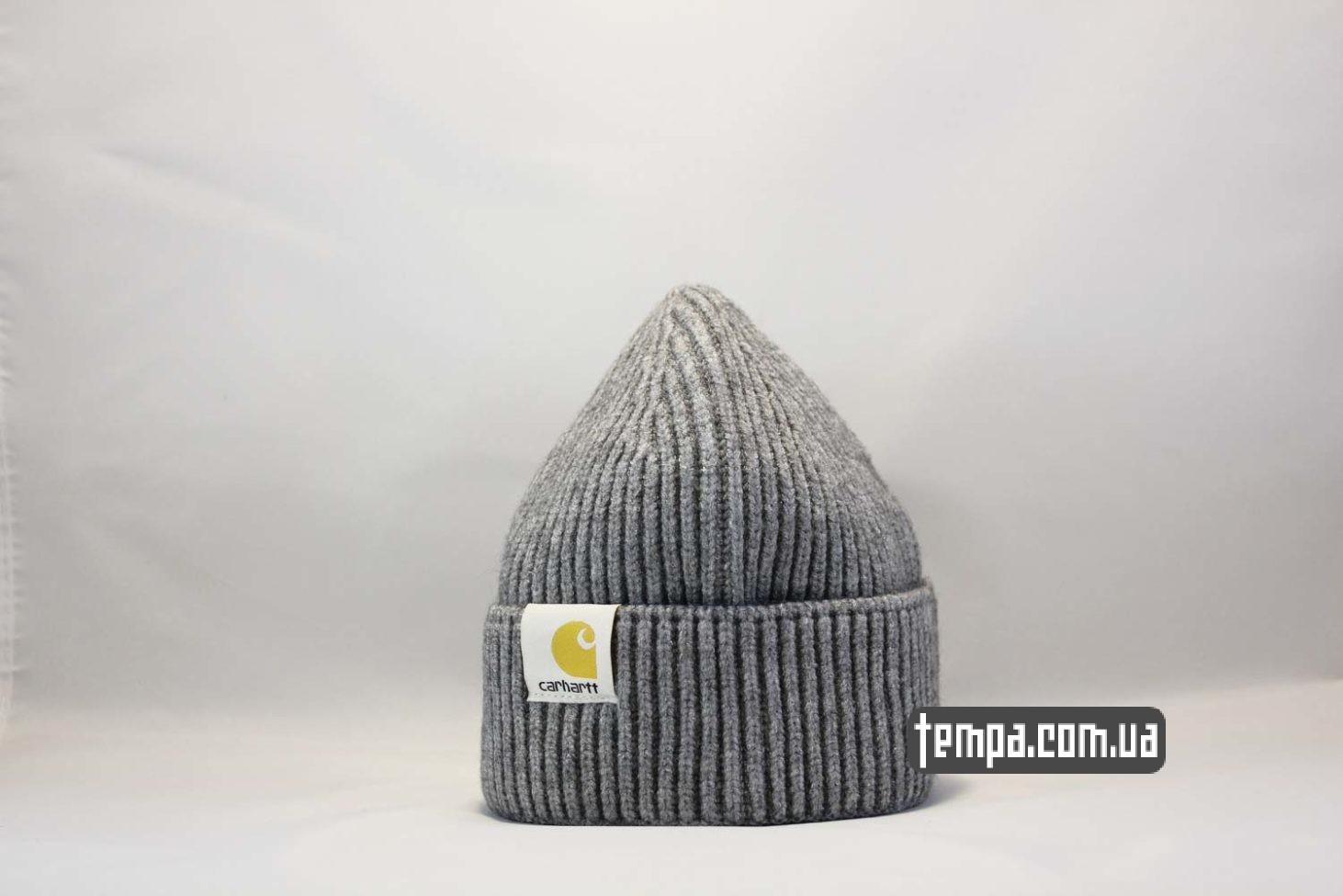бини теплые шапка beanie Carhartt grey серая купить магазин
