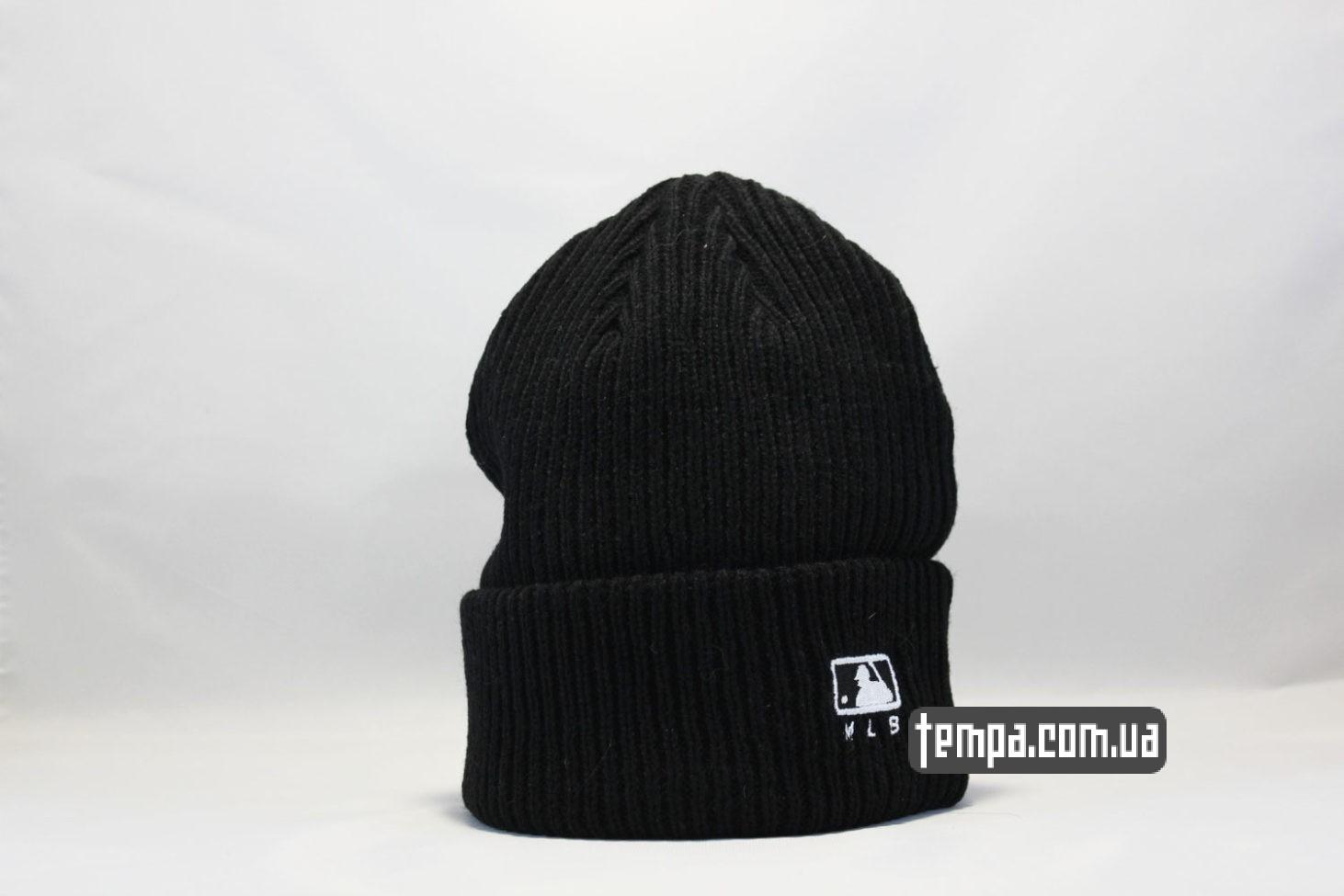черная вязанная шерстяная шапка beanie LA Los Angeles New Era black черная