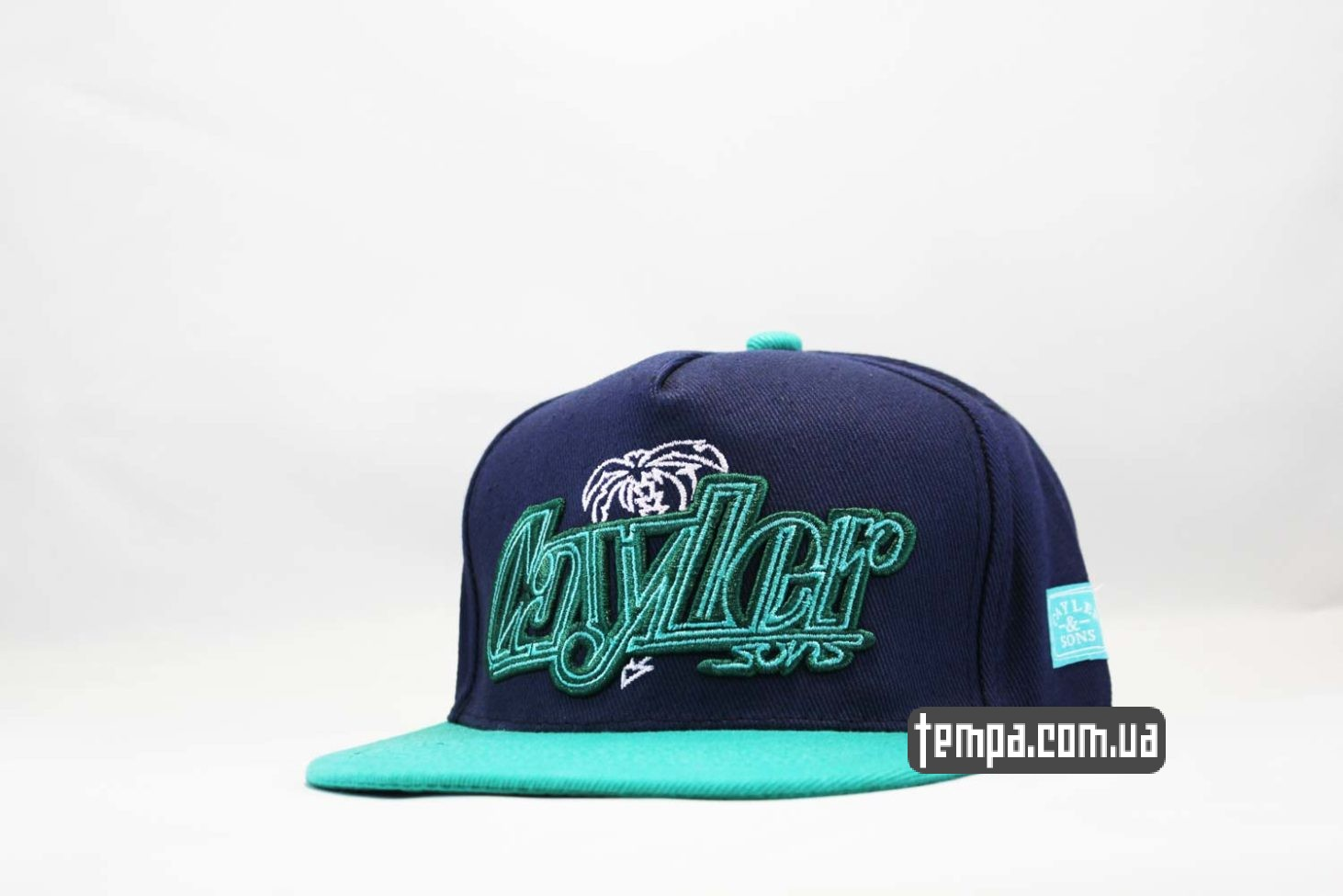 кепка snapback cayler and sons los angeles синяя зеленая