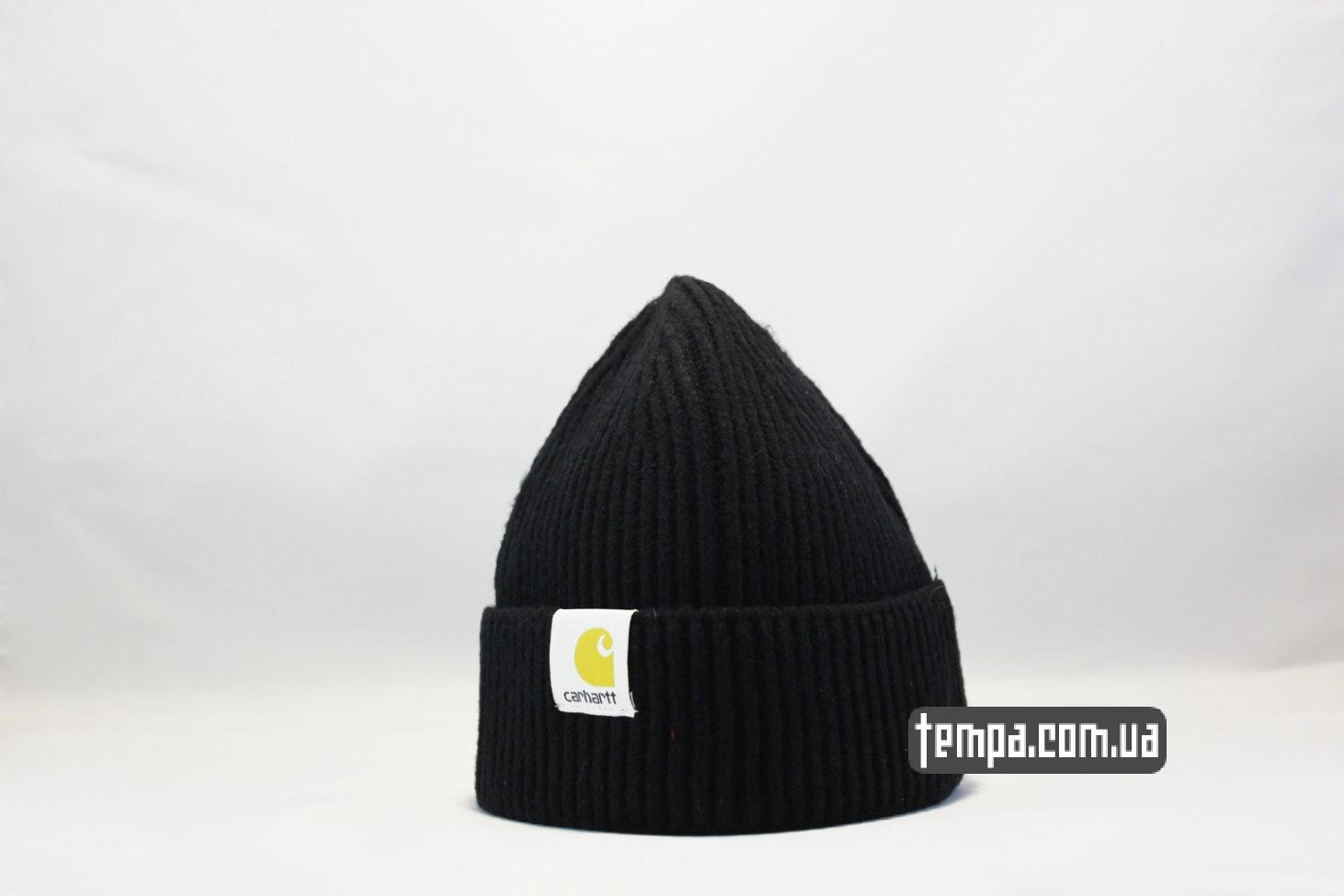 короткая шапка beanie Carhartt черная купить Украина
