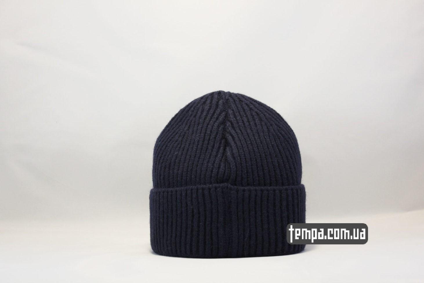 корткая монатик шапка beanie Carhartt Blue синяя магазин купить