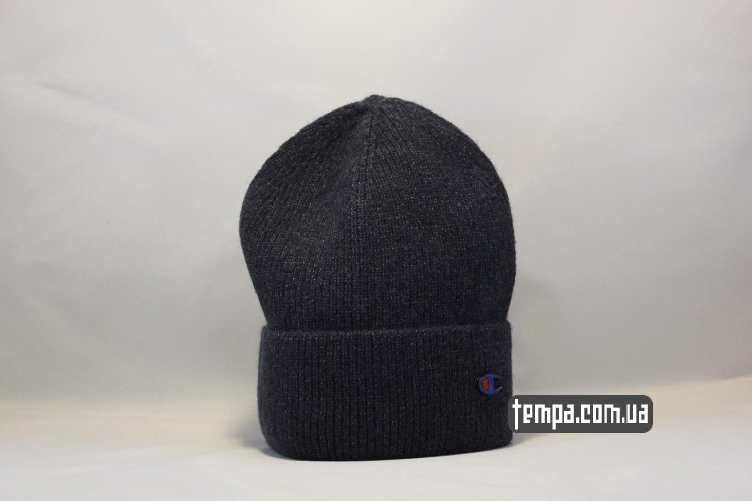 шапка beanie Champion black черная купить Украина