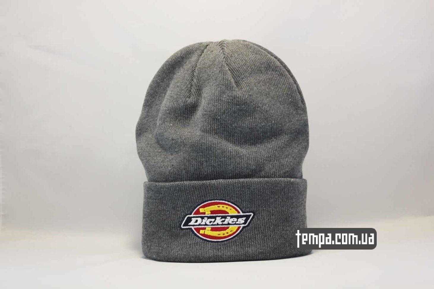 шапка beanie Dickies grey серая купить Украина
